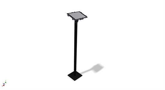 "7"" - 11"" Tablet floor stand 1 meter BLACK"